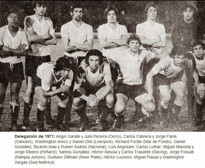 uruguay 1971 seleccion juvenil