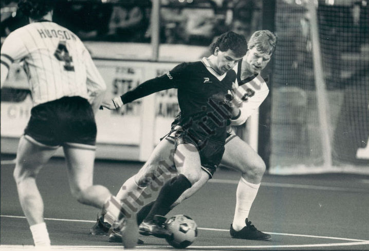 Sting 86-87 Home Frank Klopas, STrikers 3-25-1987